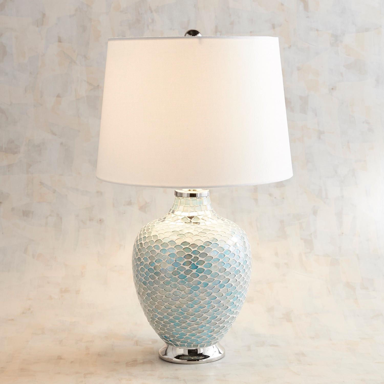 Aqua Mosaic Table Lamp