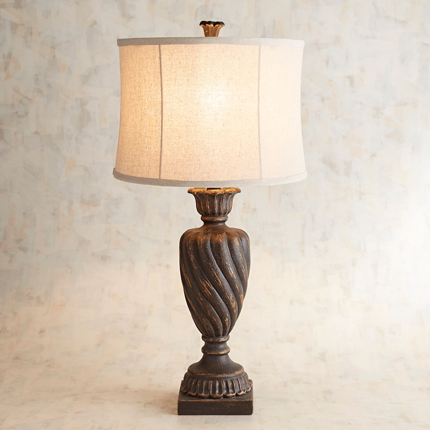 variation thumbnail of Maxwell Rustic Black Table Lamp