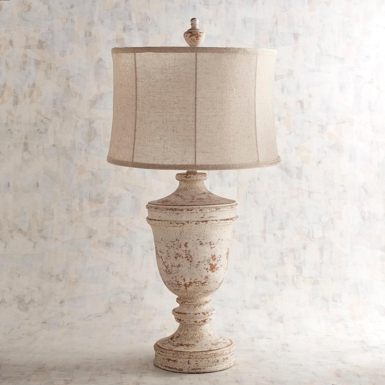 Ashton Whitewashed Table Lamp