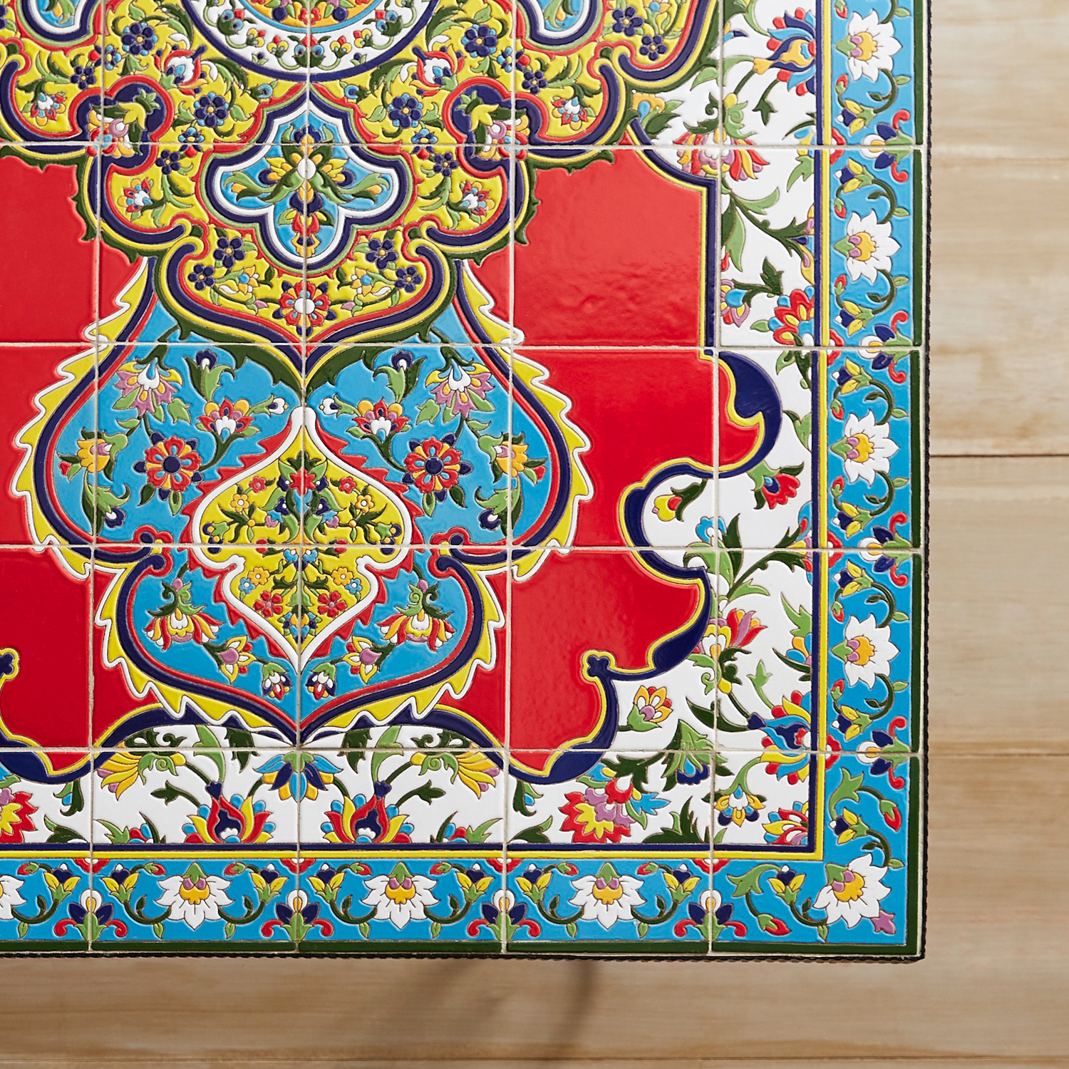 Emilio Red Mosaic Dining Table