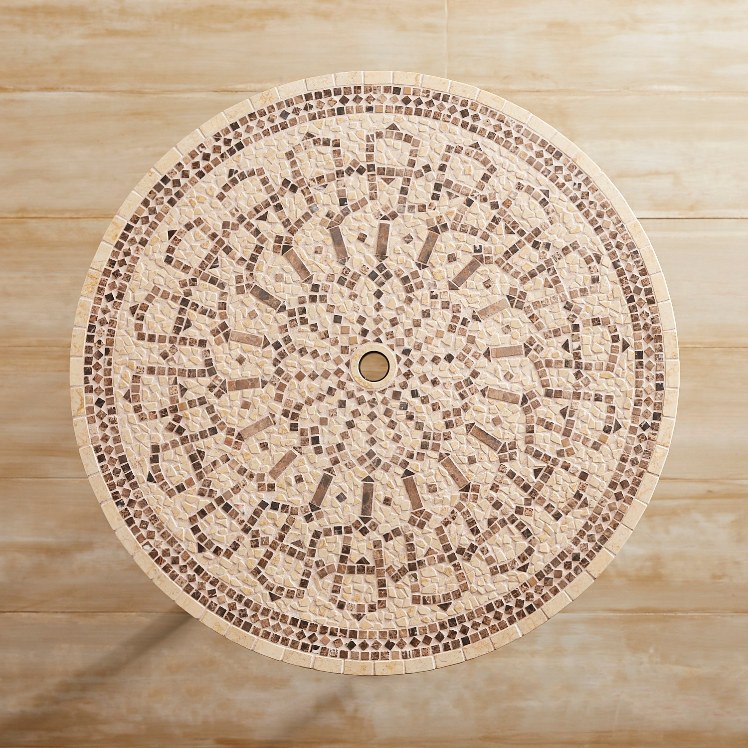 """Abigail Marble & Mosaic 43"""" Round Dining Table"""