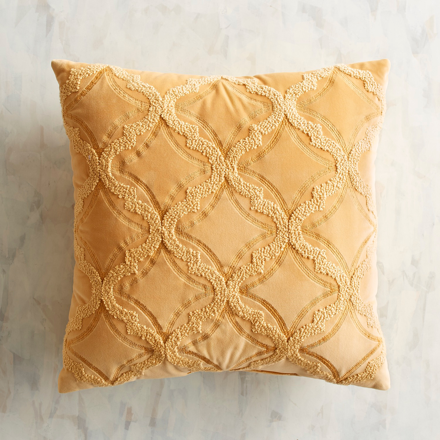 Embroidered Plush Honey Pillow