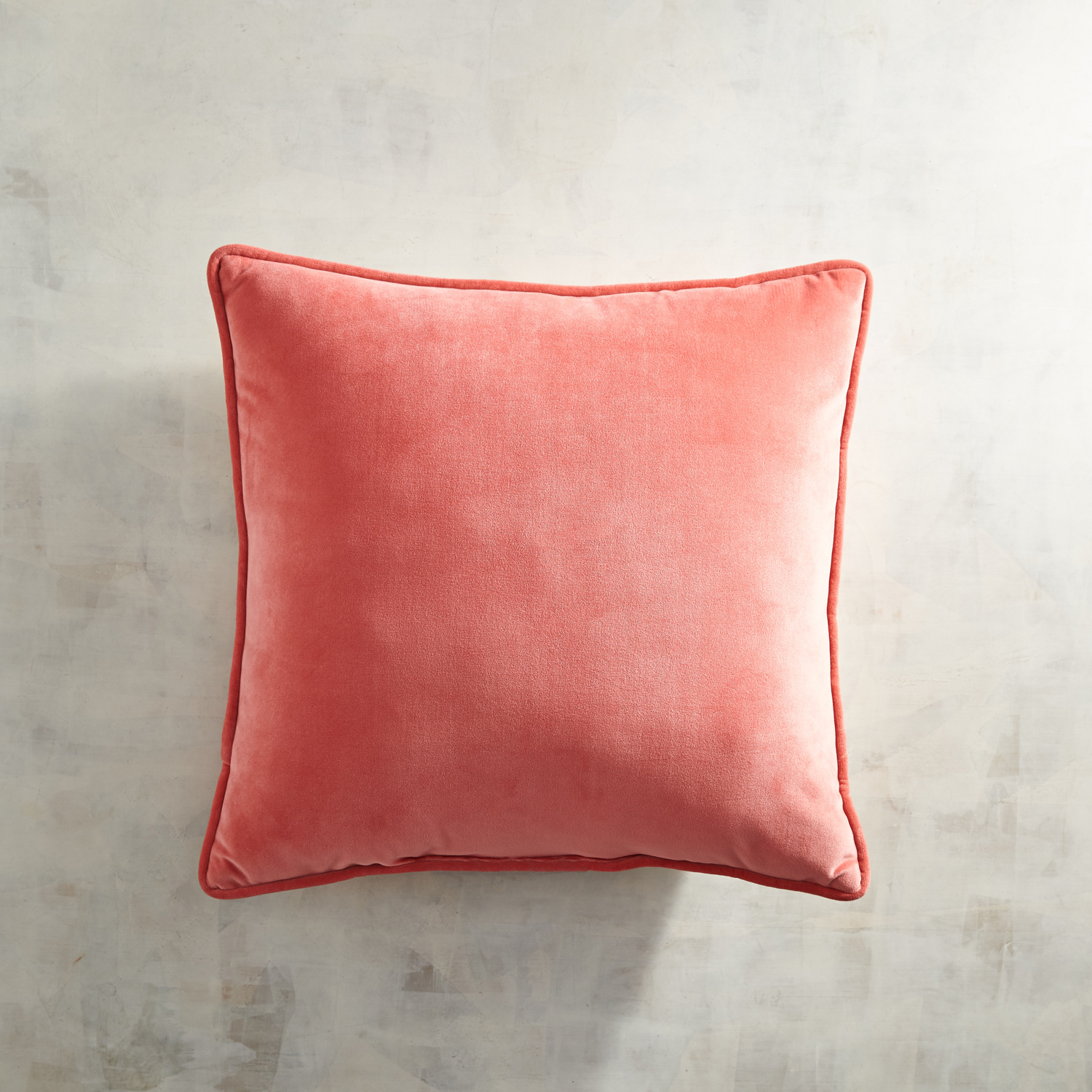Beaded & Embroidered Coral Pillow