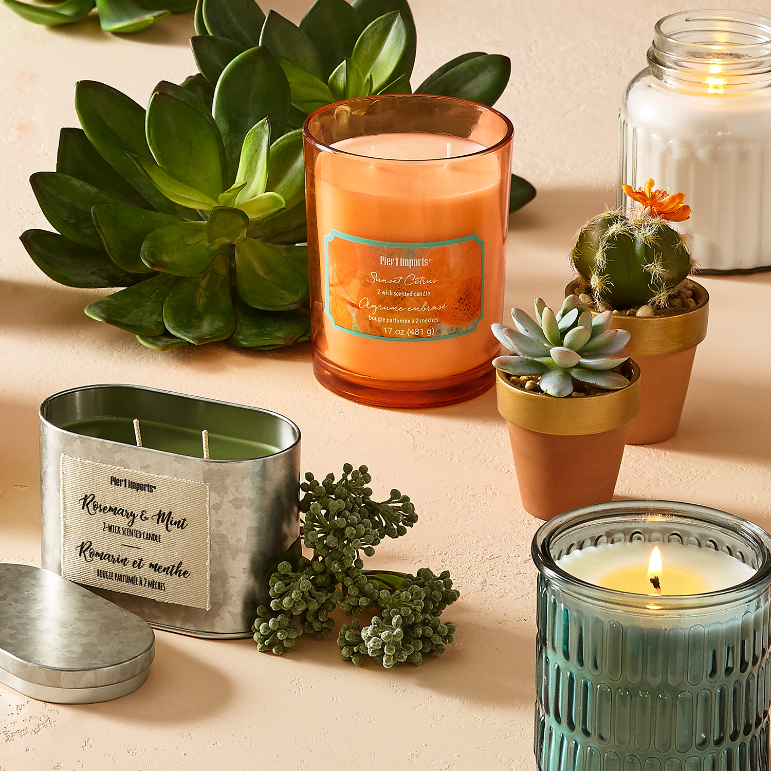 Sunset Citrus 2-Wick Filled Candle