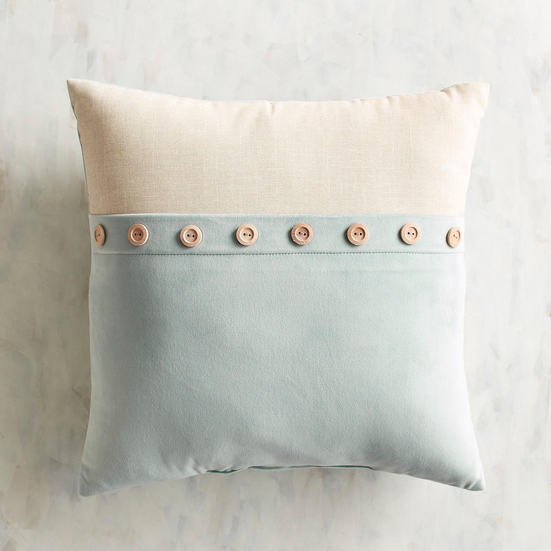 Plush Button Trim Maui Pillow
