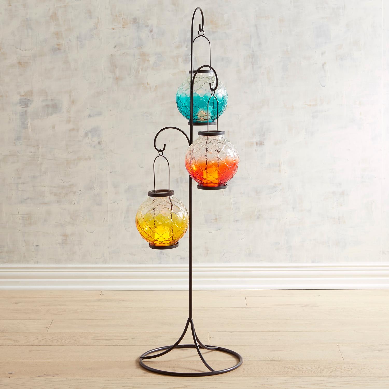 Medallion Ombre Glass Lanterns