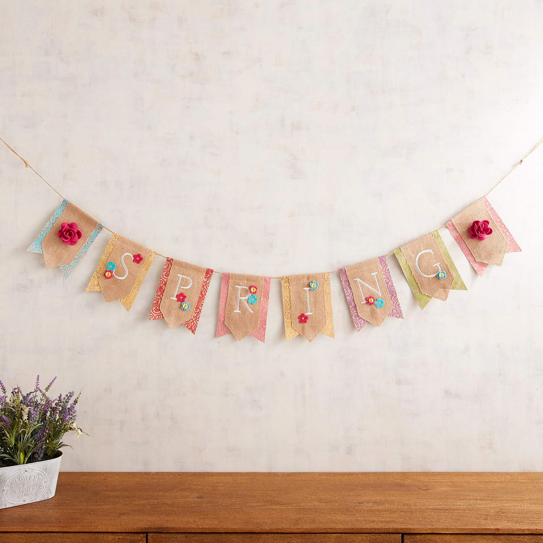 Spring Pennant Banner