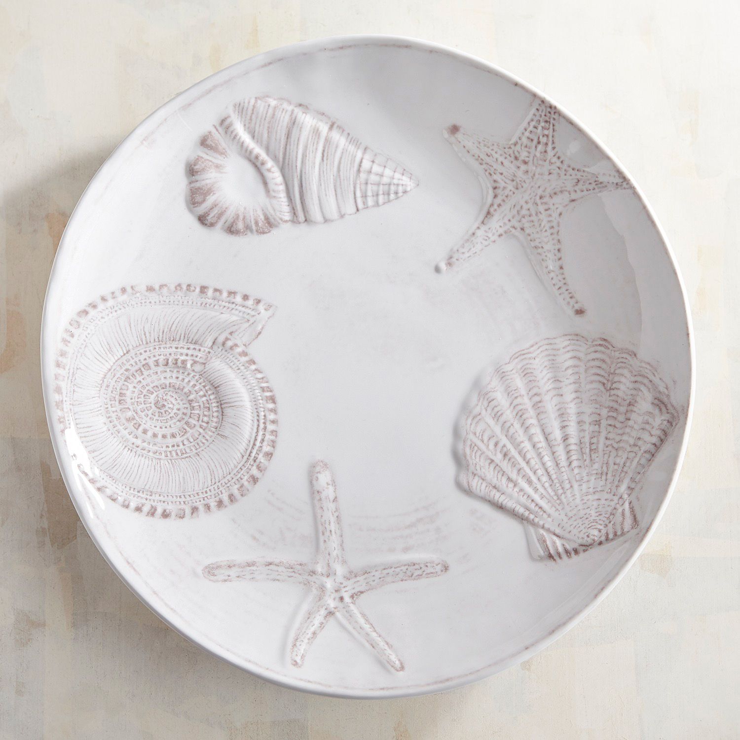 Seashell Melamine Dinner Plate