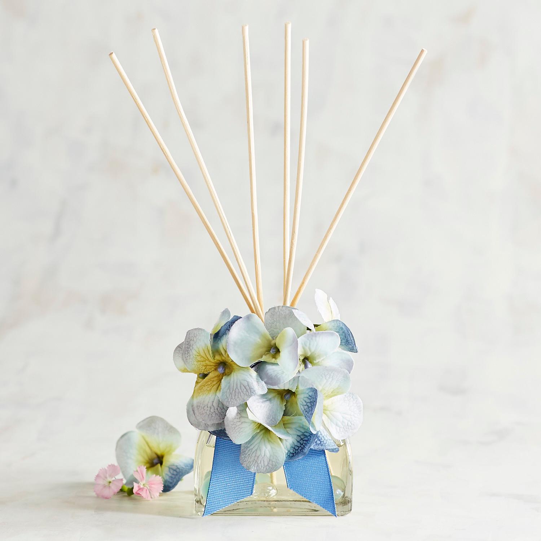 Blue Hydrangeas Decorative Reed Diffuser