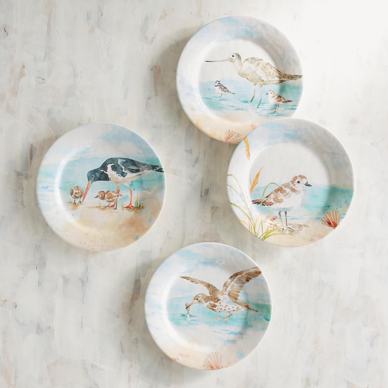 Seabirds Melamine Salad Plate Set of 4