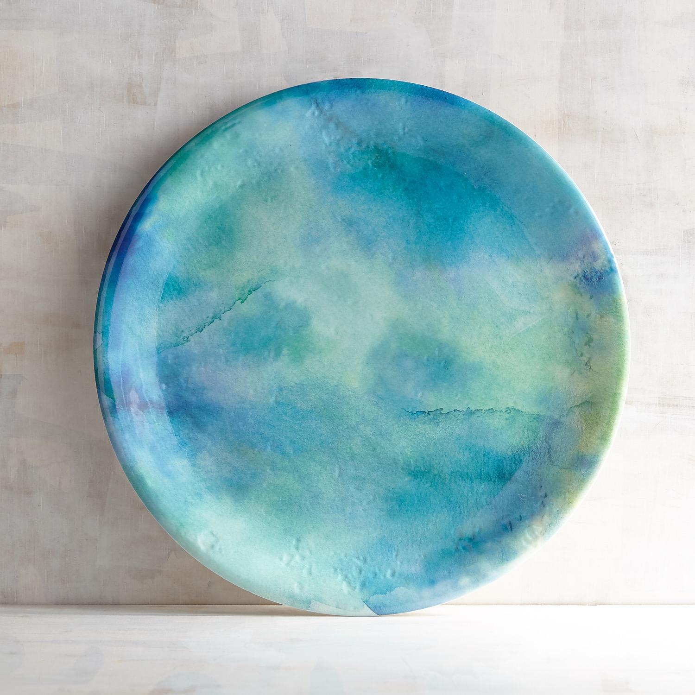 Waterwave Ocean Melamine Dinner Plate