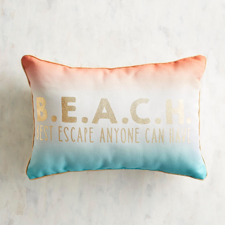 Beach Escape Printed Lumbar Pillow