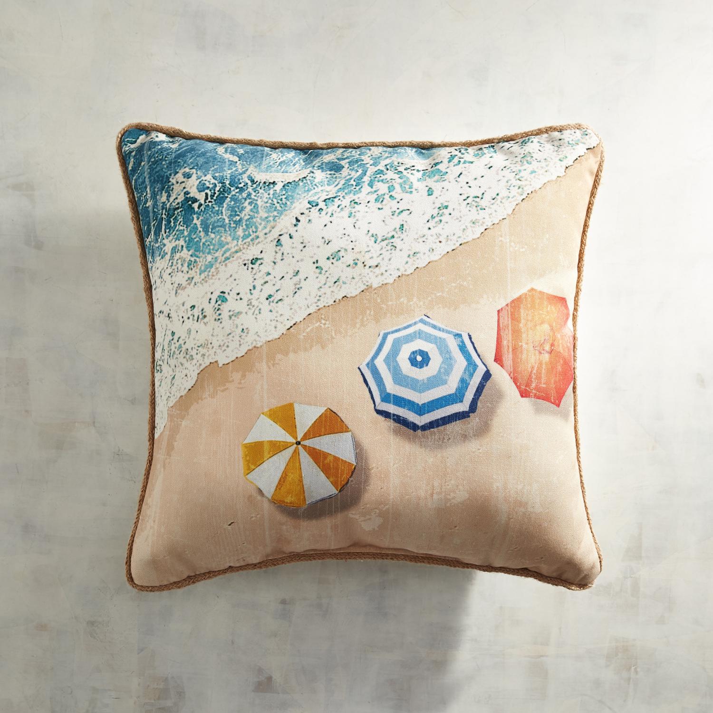 Printed Beach Umbrellas Pillow