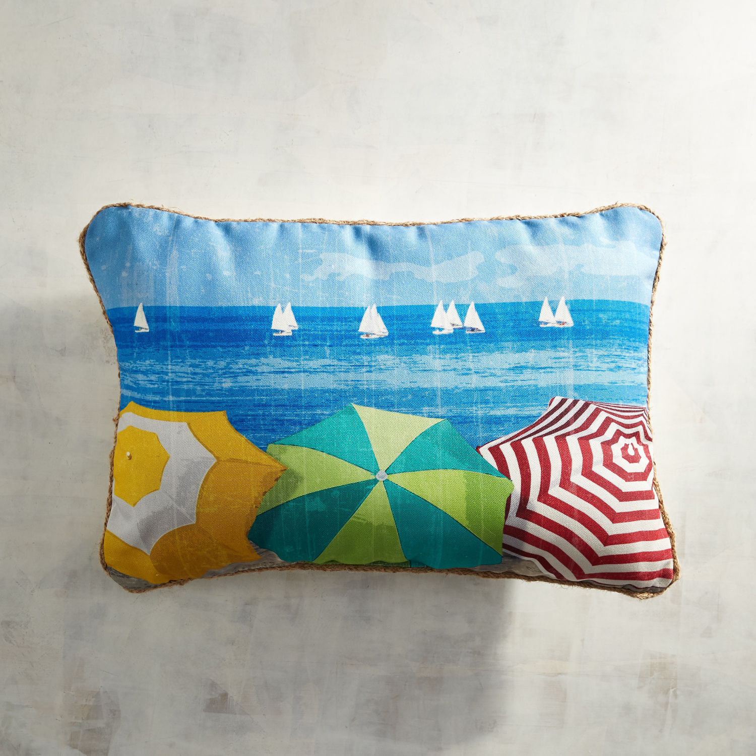 variation thumbnail of Beach Umbrellas Lumbar Pillow