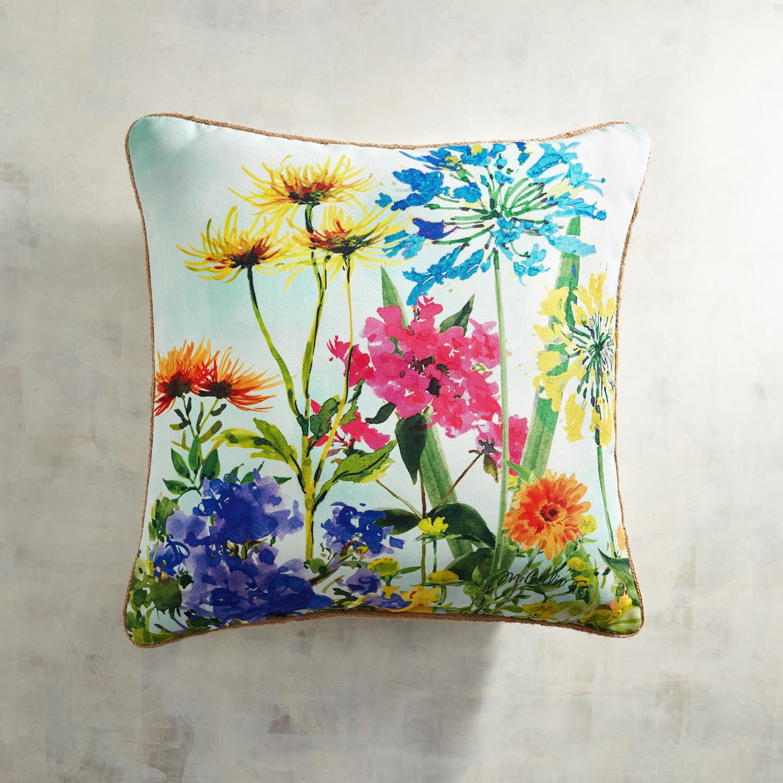 Printed Wildflowers Pillow