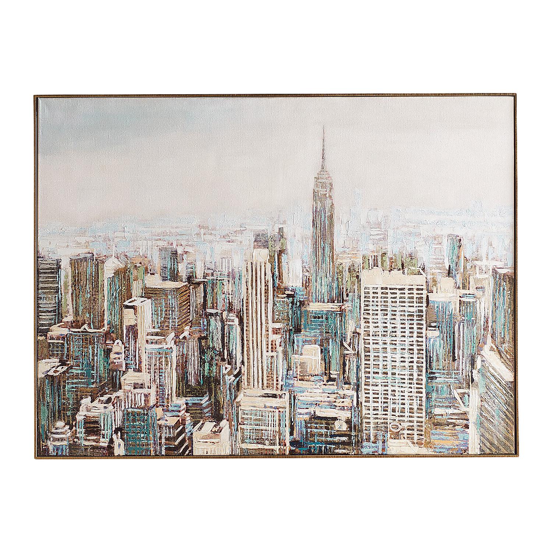Big City Skyline Framed Canvas Wall Art