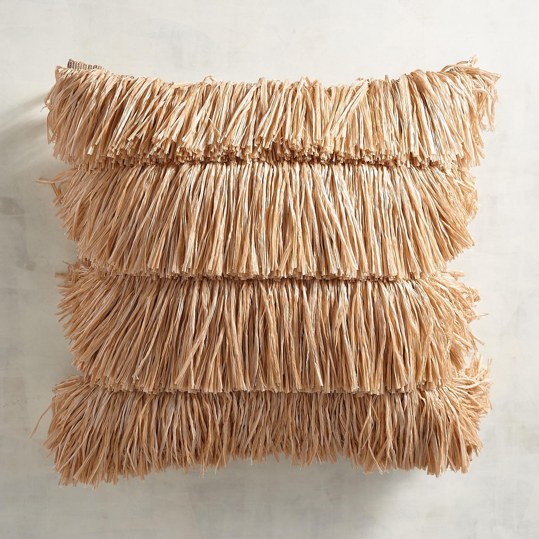 Tiki Fringed Pillow