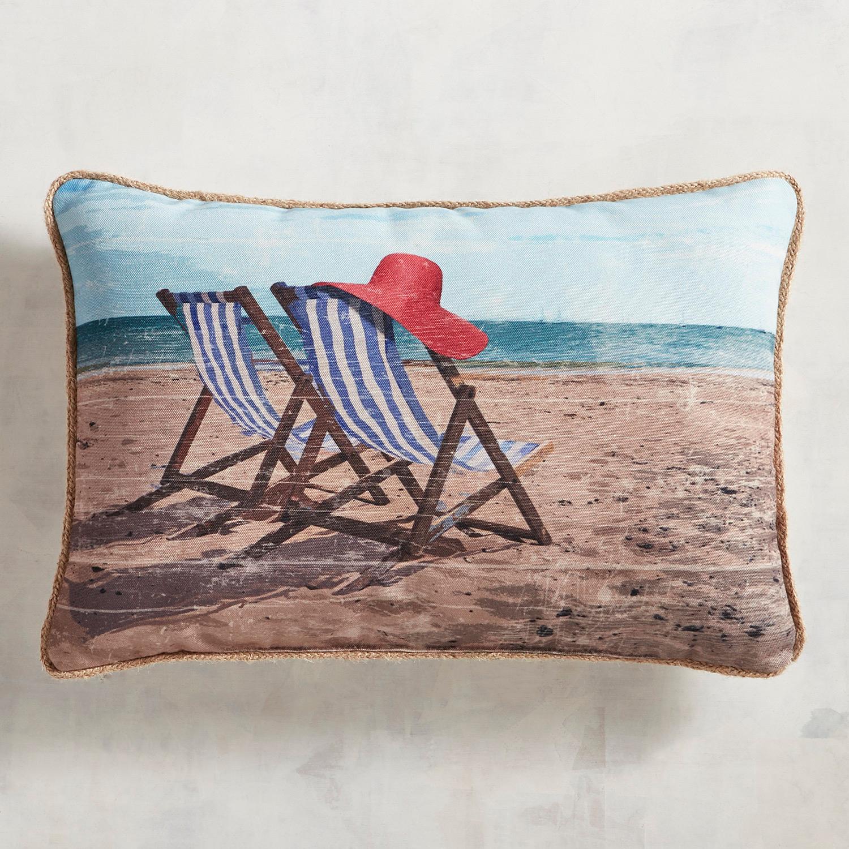 Beach Chairs Printed Pillow