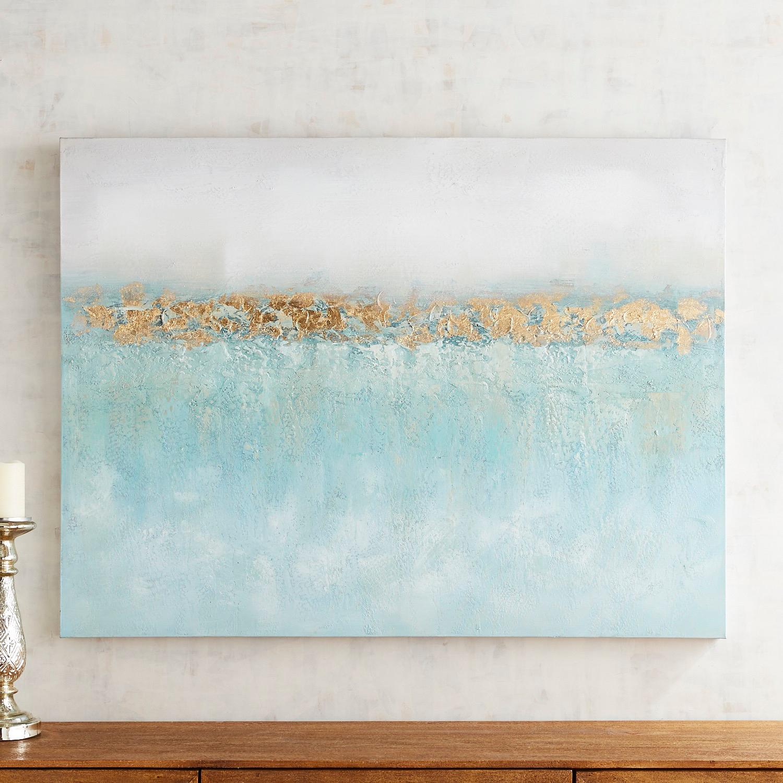 Golden Ocean Abstract Art