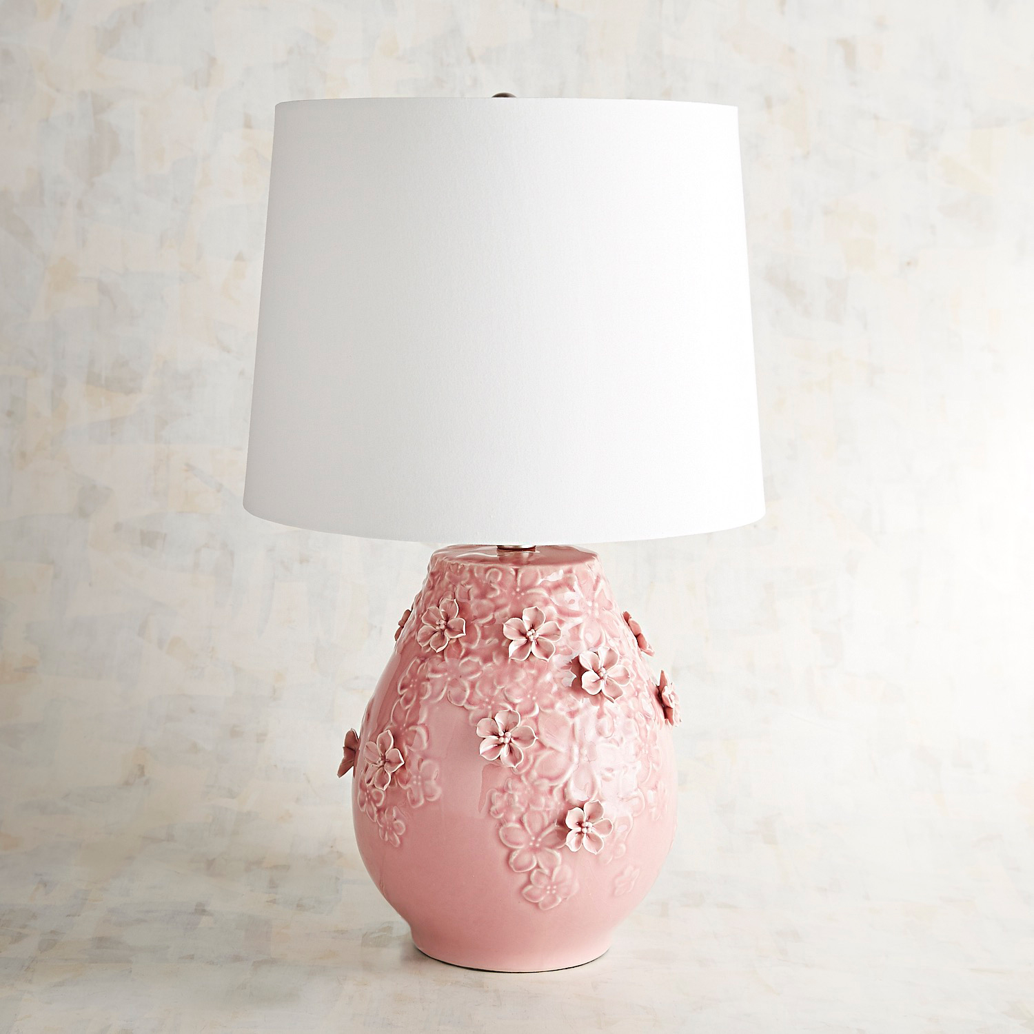 Blooming Ceramic Small Pink Table Lamp