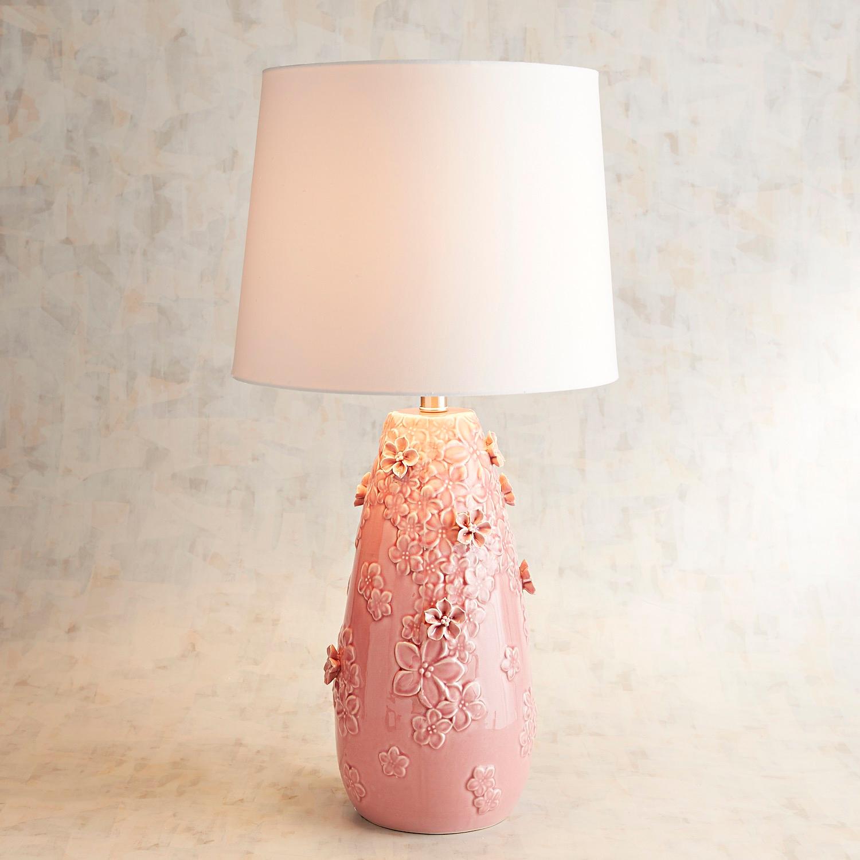 Blooming Ceramic Large Pink Table Lamp