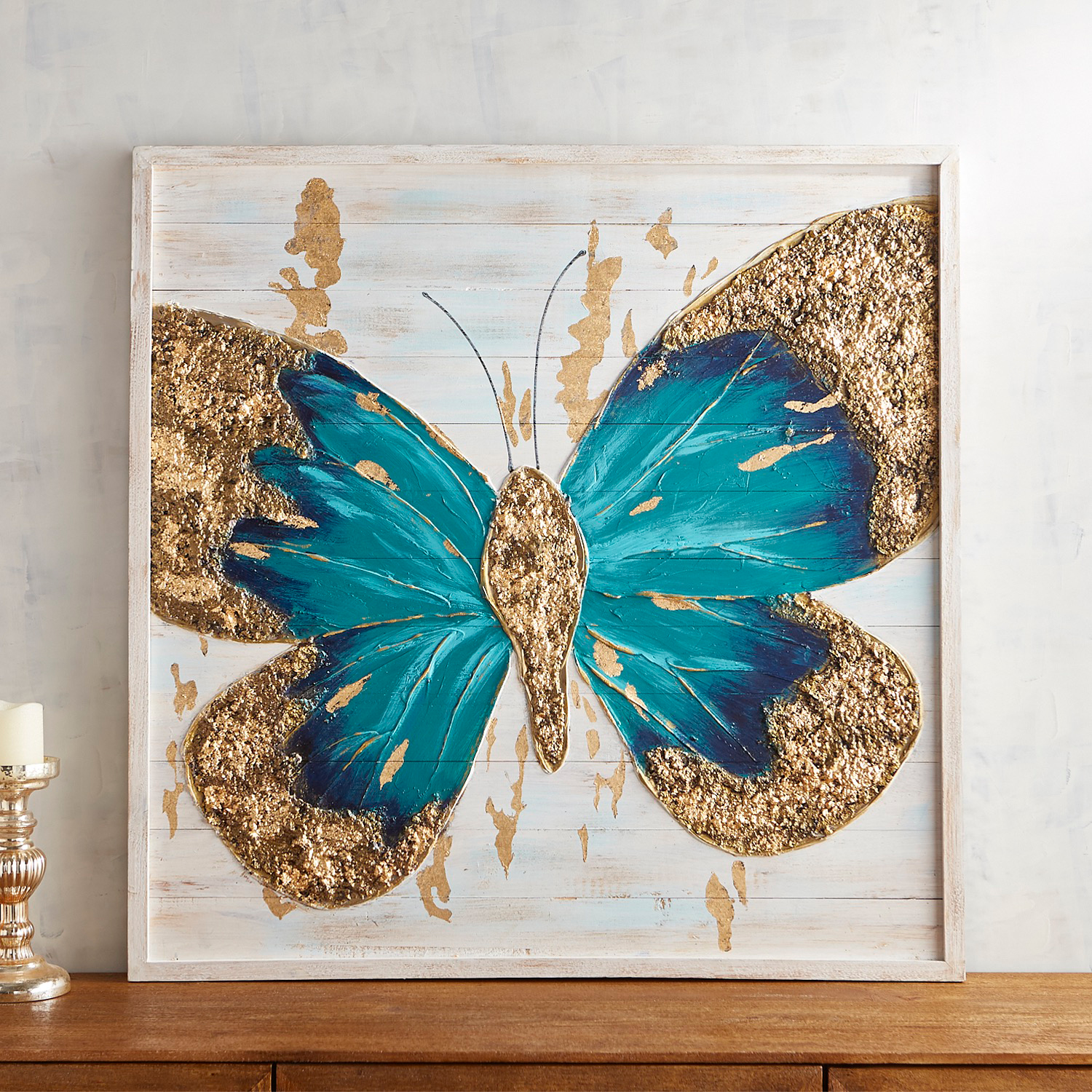 Planked Butterfly Wall Decor