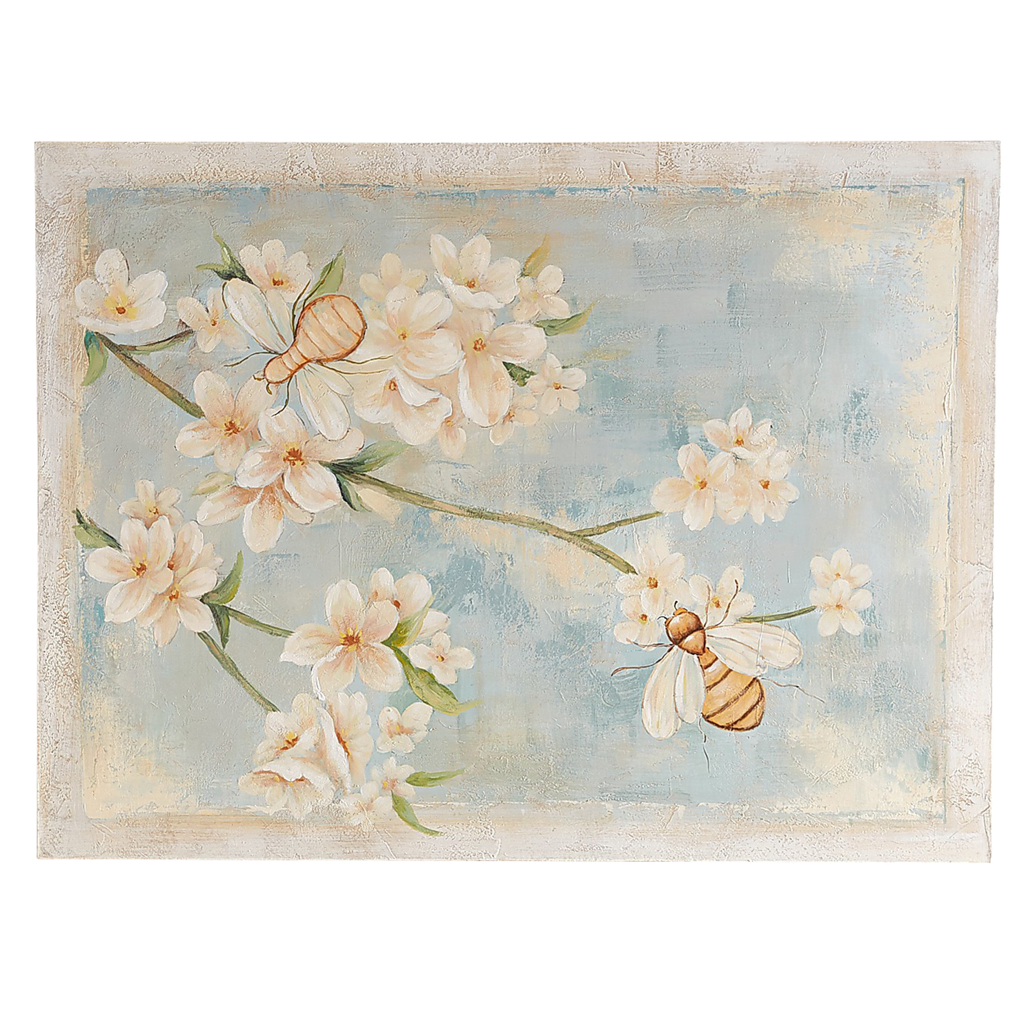 Bumblebees in Blossoms Wall Art