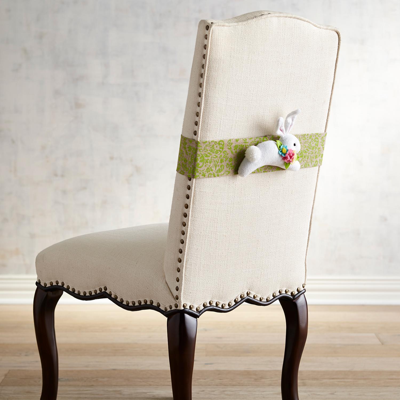White Bunny Chair Decor