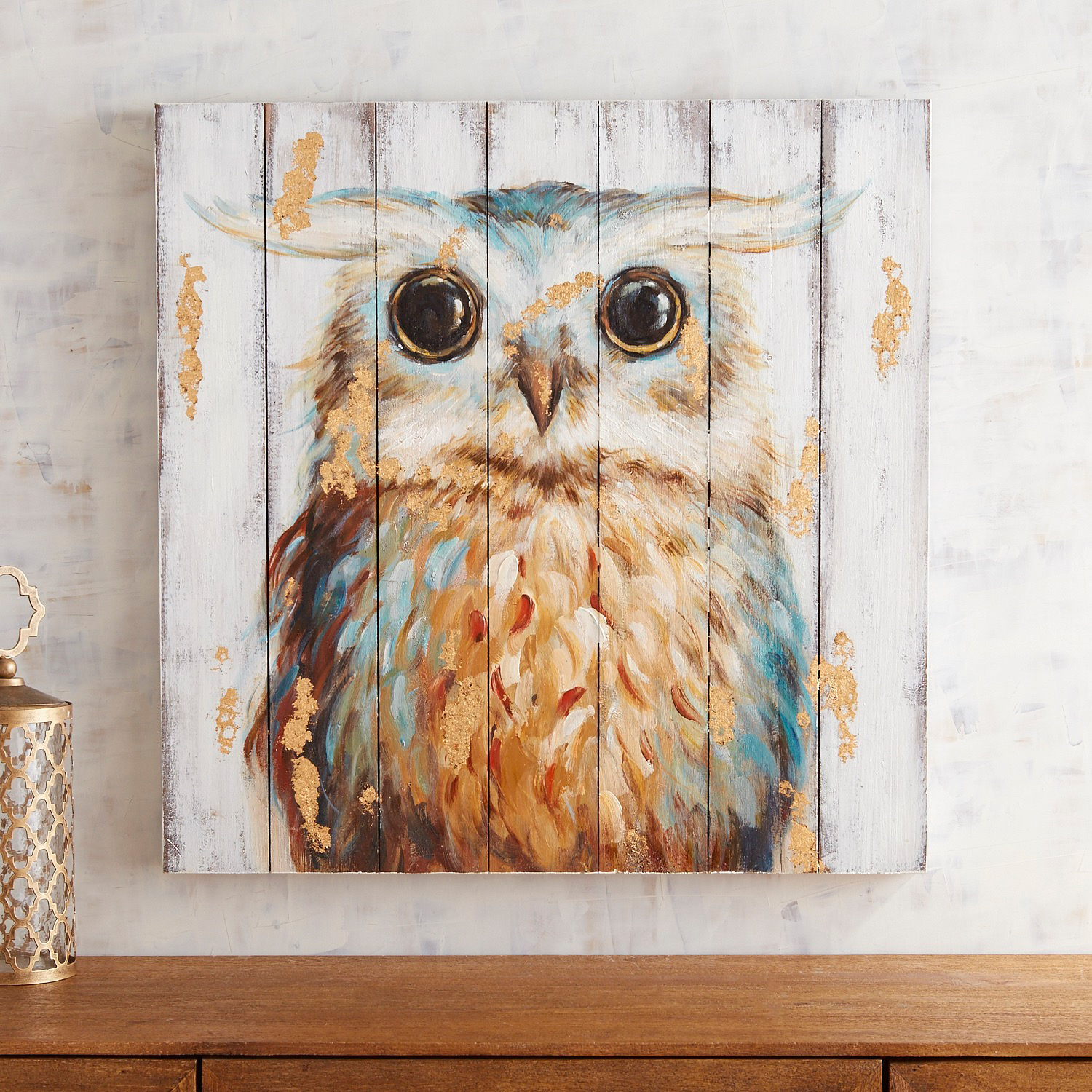 Planked Owl Wall Decor