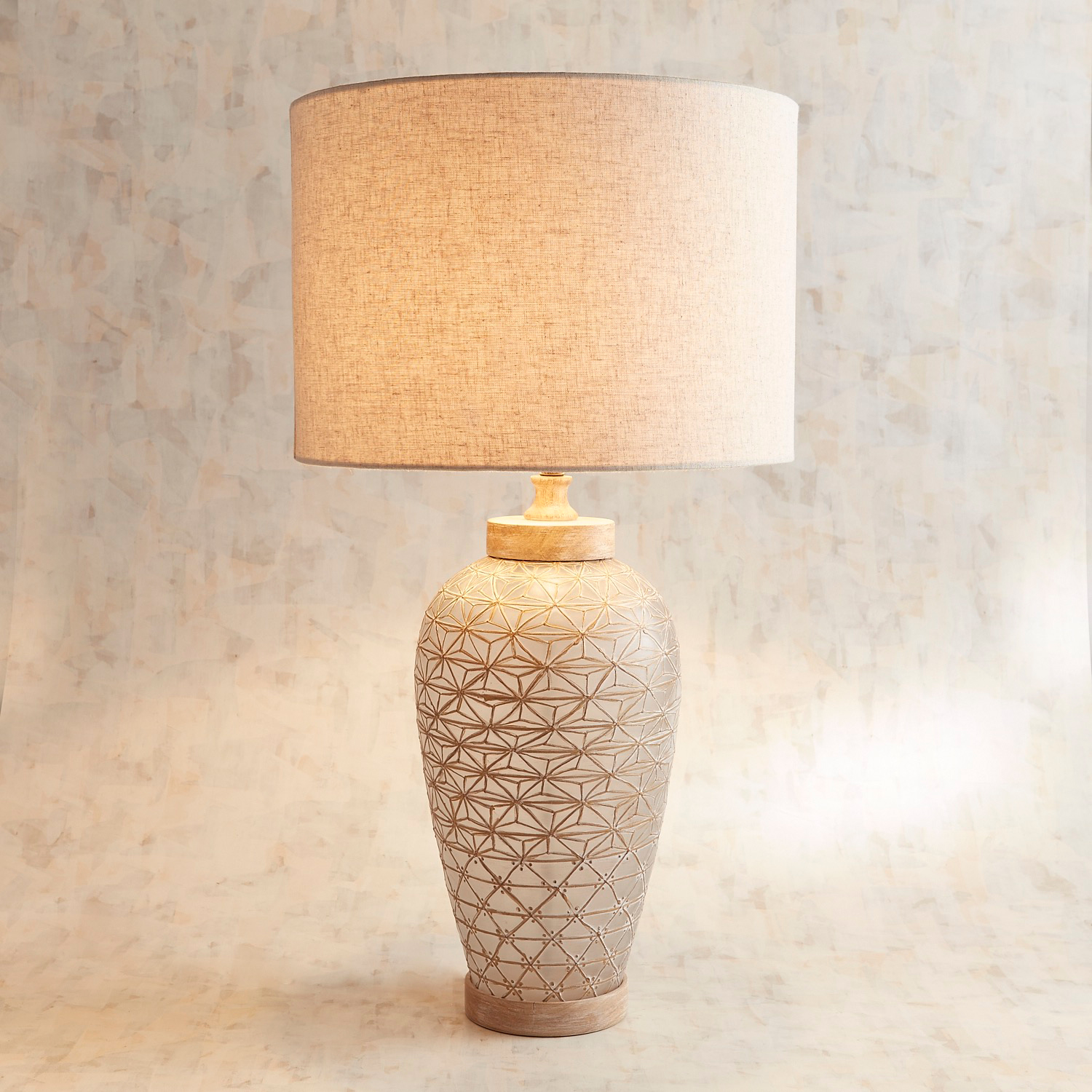 Patterned Glass Table Lamp