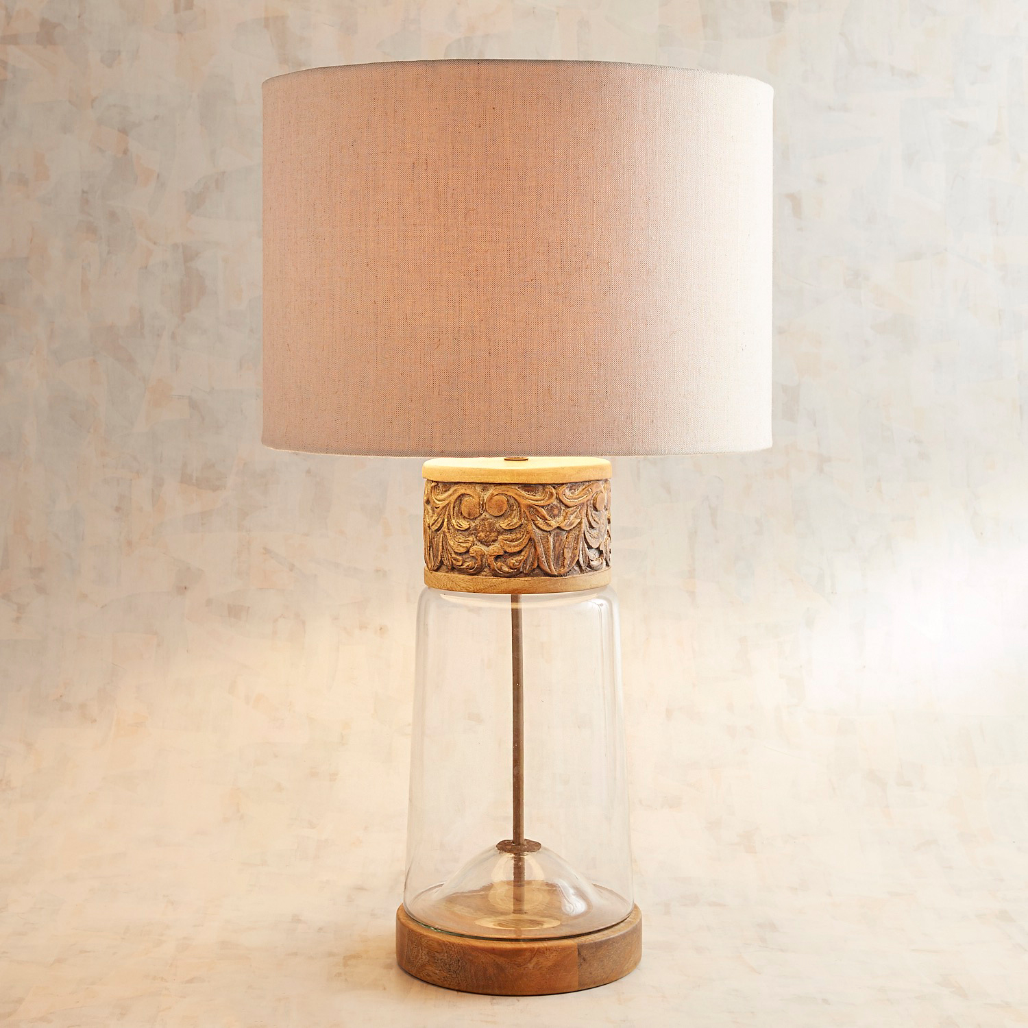 Glass Table Lamp