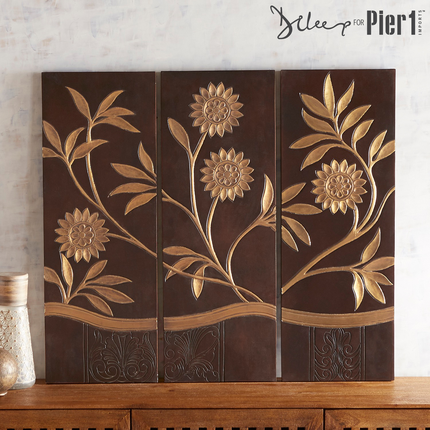 Wooden Wall Decor, Set of 3