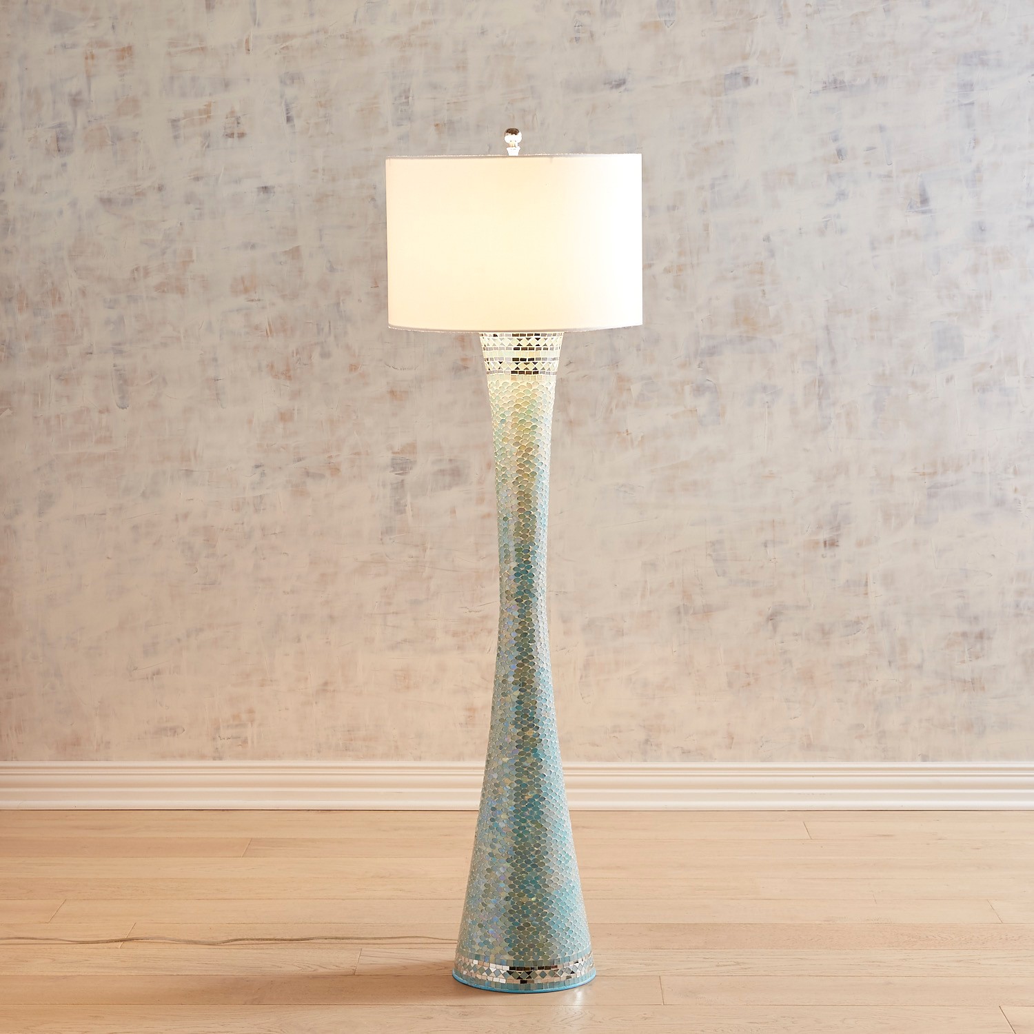 Aqua Mosaic Floor Lamp