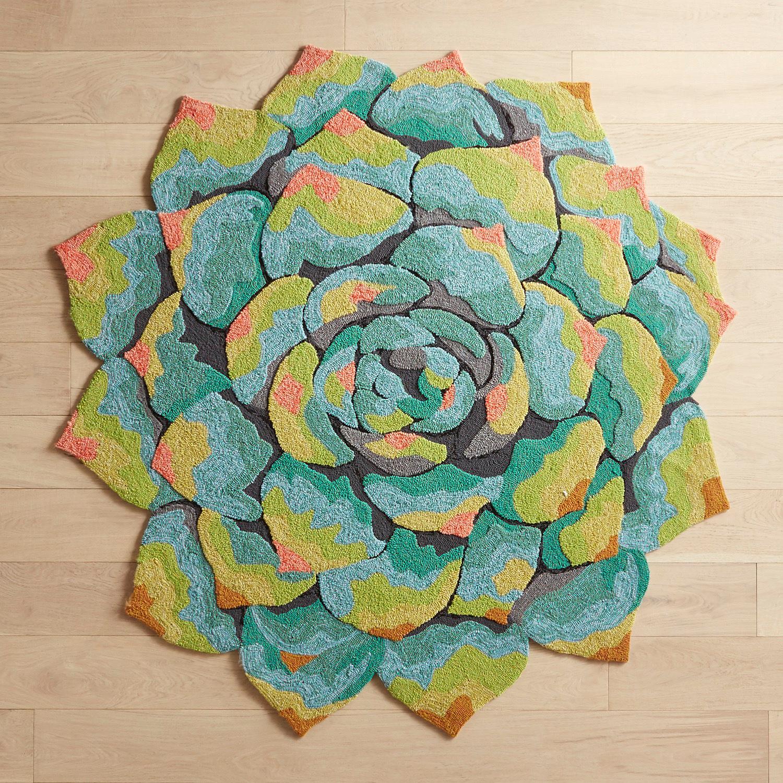 Succulent 6' Round Rug