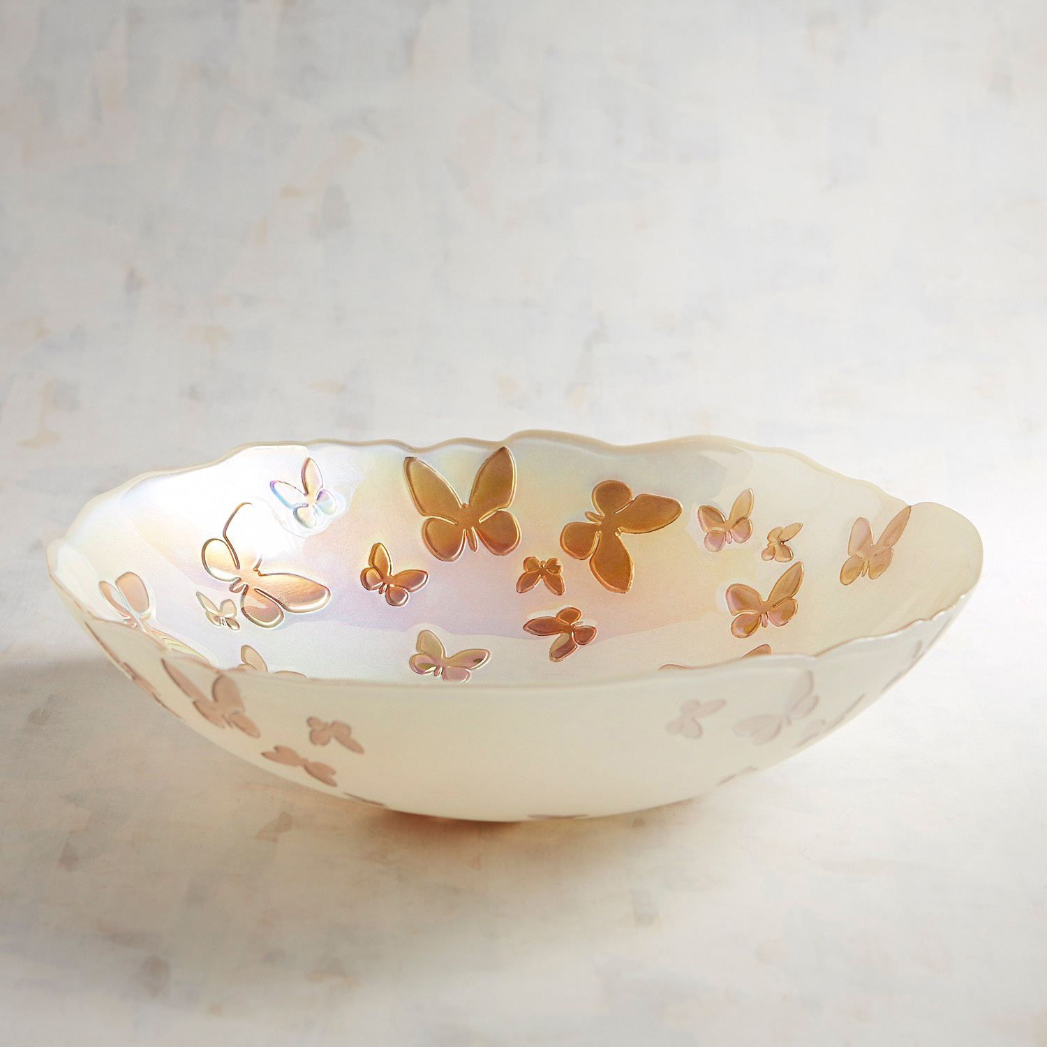 Butterfly Glass Serving Bowl