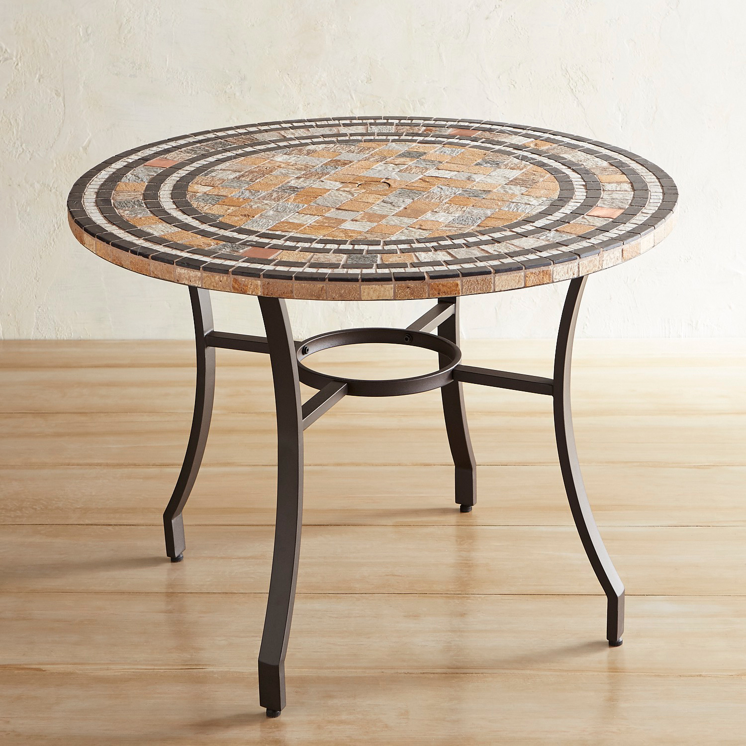 "Dax Natural Stone 43"" Round Dining Table"