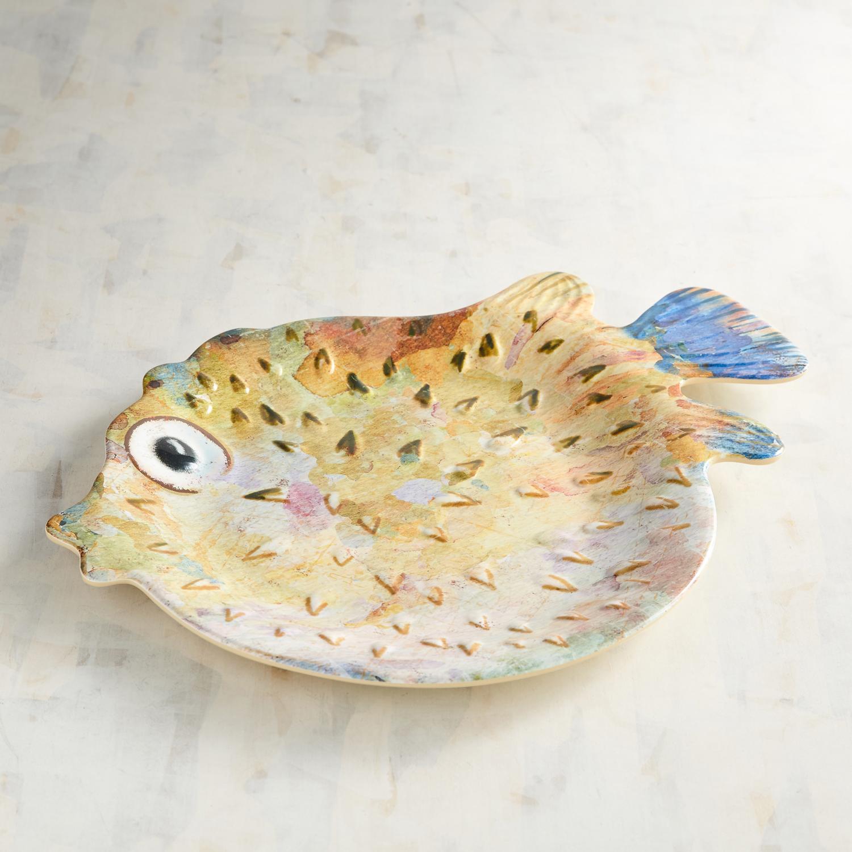 Puffer Fish Melamine Platter