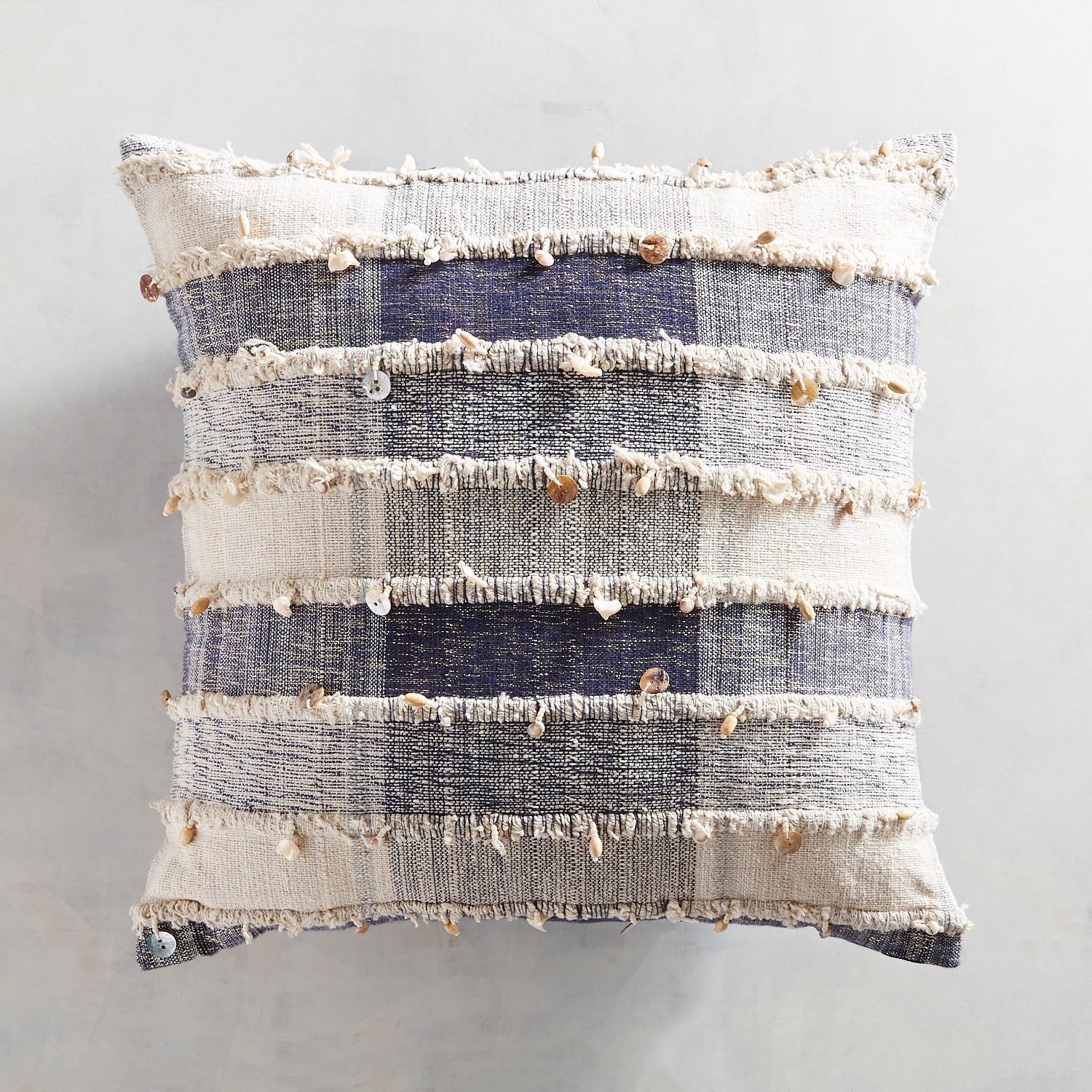 Chunky Plaid Pillow with Shells