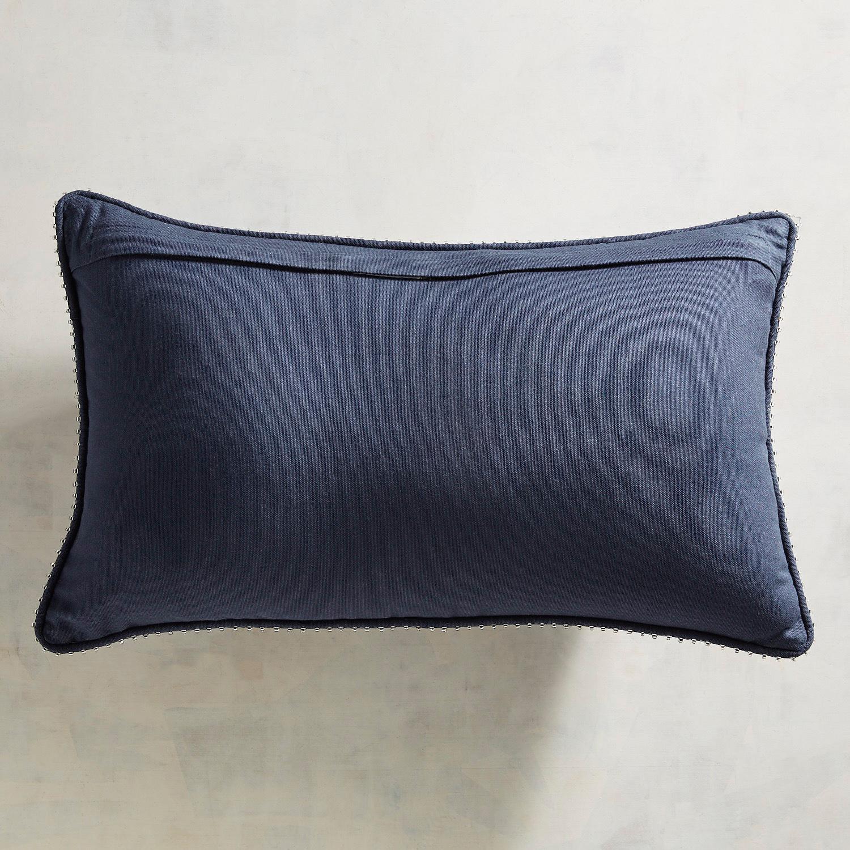 Embroidered Navy Ship Lumbar Pillow