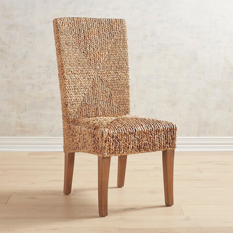 Kursi Water Hyacinth Upholstered Dining Chair