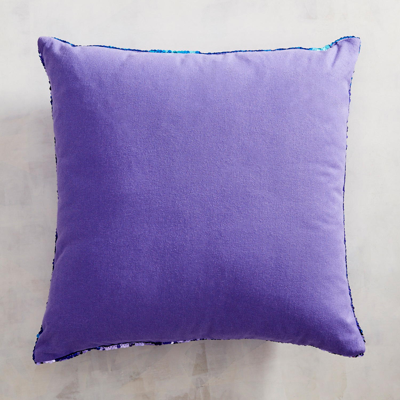 Lilac & Aqua Reversible Sequined Mermaid Pillow