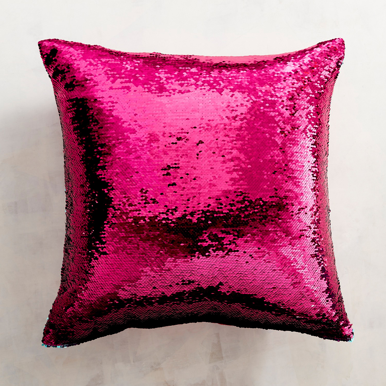 Pink & Aqua Reversible Sequined Mermaid Pillow