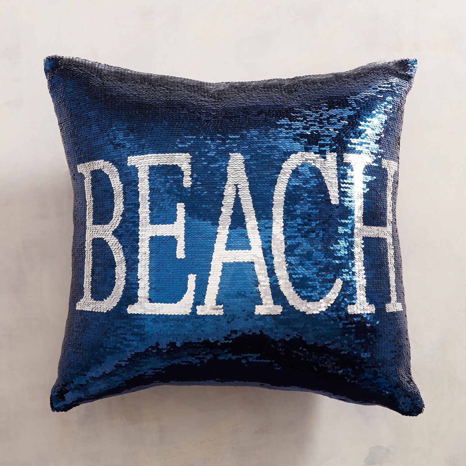 Beach & Happy Place Reversible Sequined Mermaid Pillow