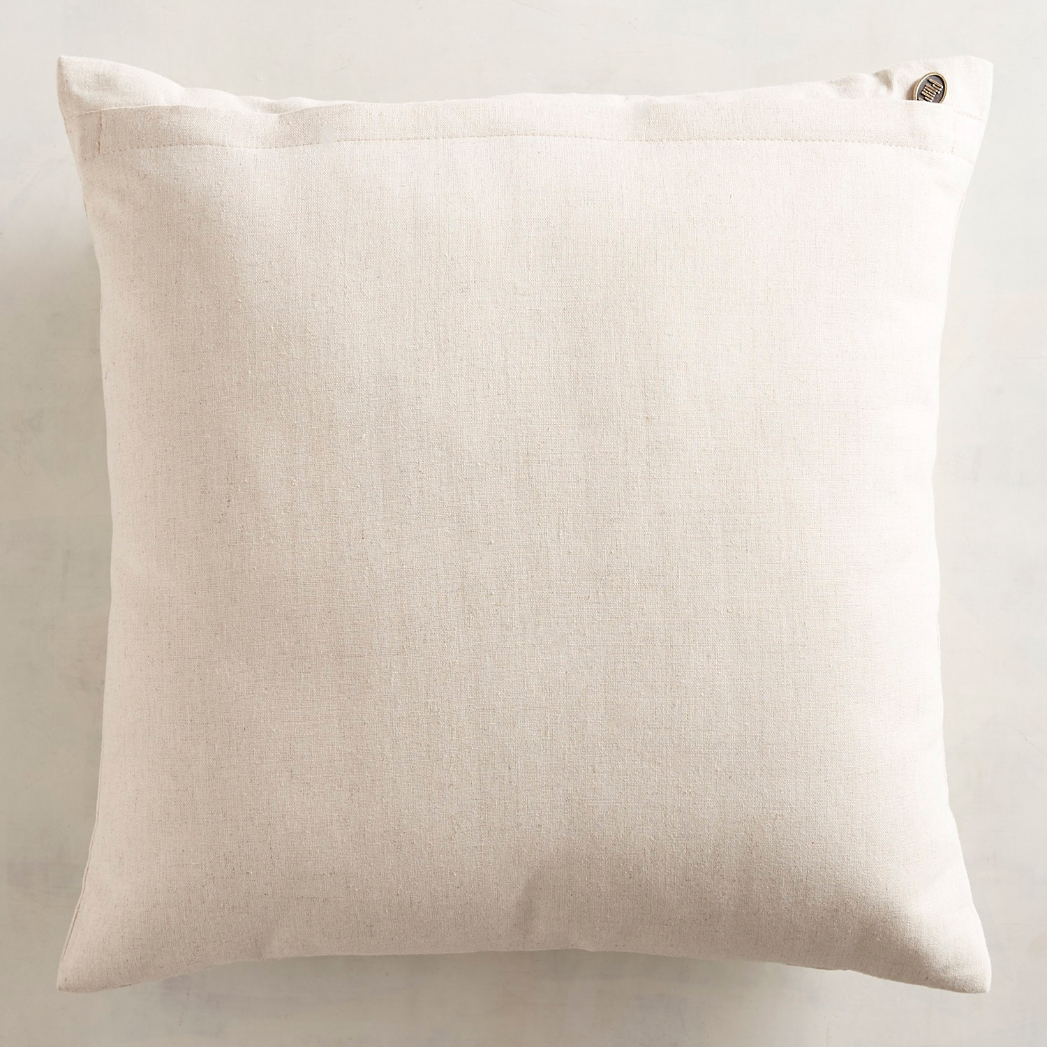 Embroidered Montauk Natural Floral Pillow