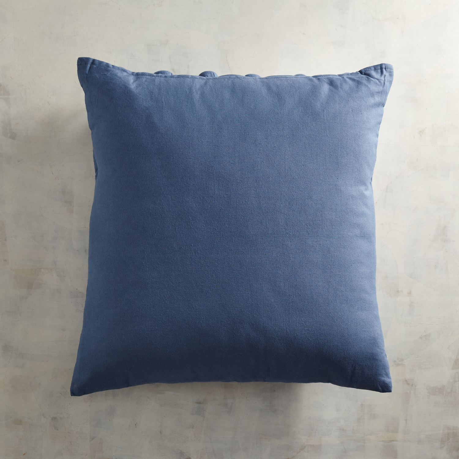 Embroidered Montauk Blue Floral Pillow