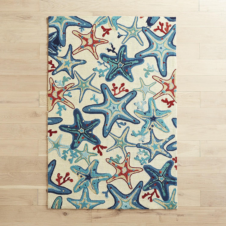"Starfish Blues 5x7'6"" Rug"