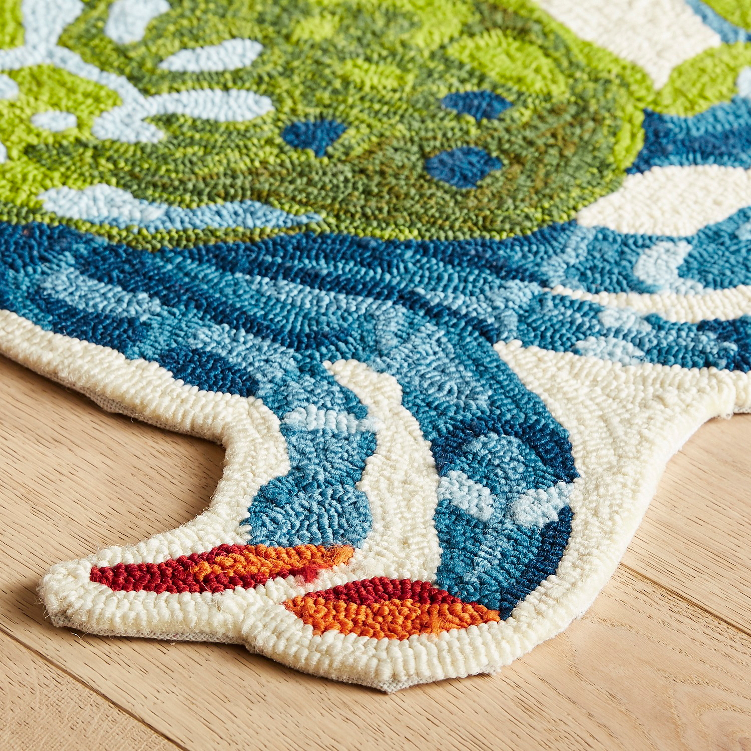 Colorful Crab-Shaped Rug
