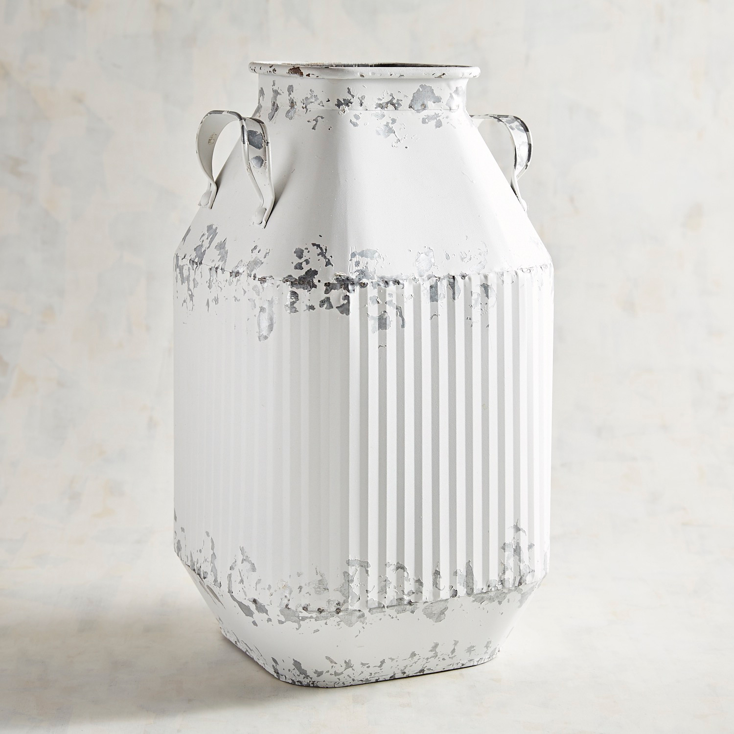 Metal Rustic Can with 2 Handles