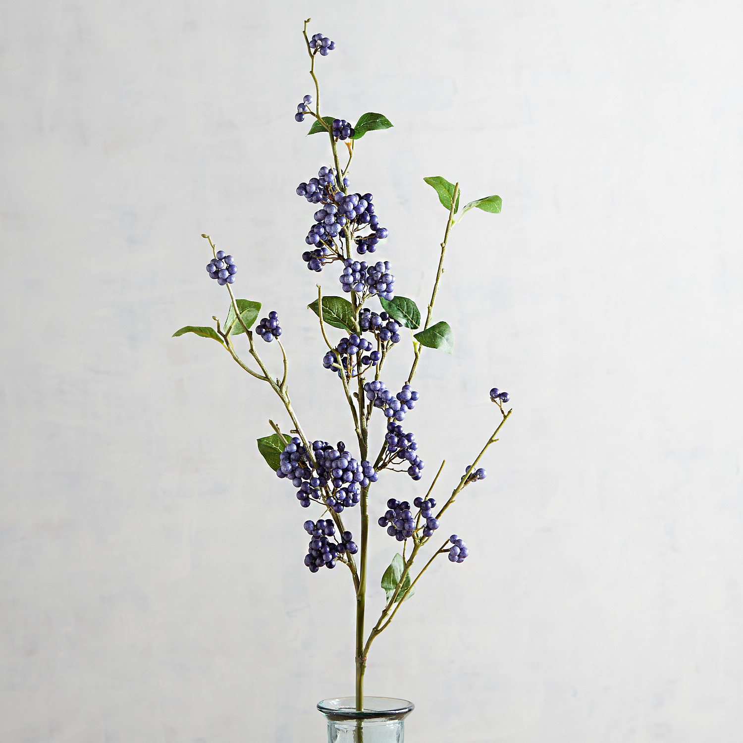 Faux Blue Spring Berry Stem