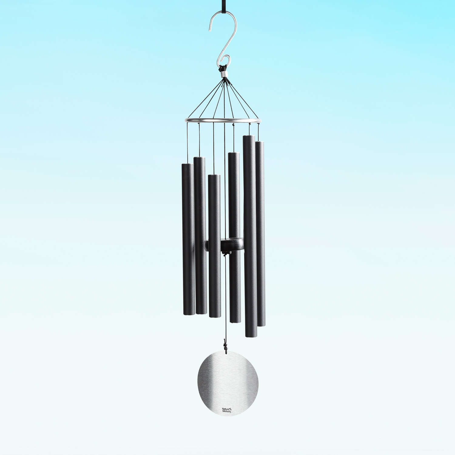 Small Black Pipes Wind Chimes